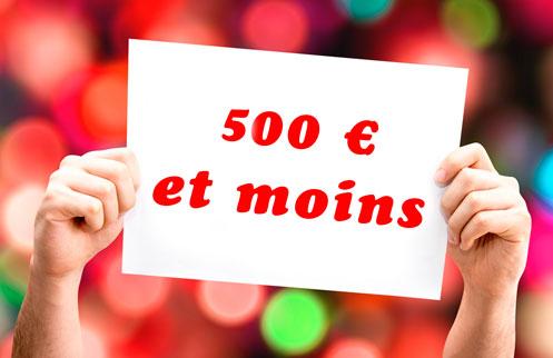 Un appareil photo pour 500 euros