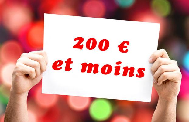 Un appareil photo pour moins de 200 euros